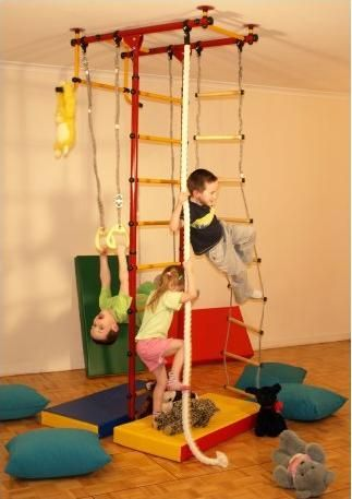 We have the bigger version of this in our basement playroom, best purchase EVER!