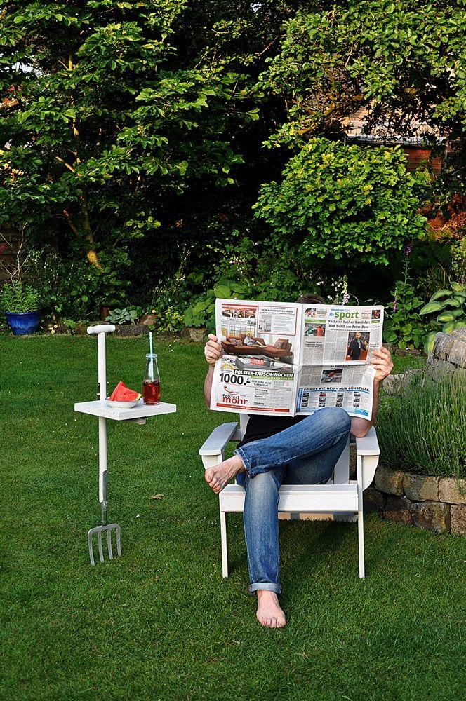Smillas Wohngefühl: DIY : mobiler Gartentisch aus Grabegabel, bzw Gartenforke selbst gebaut!