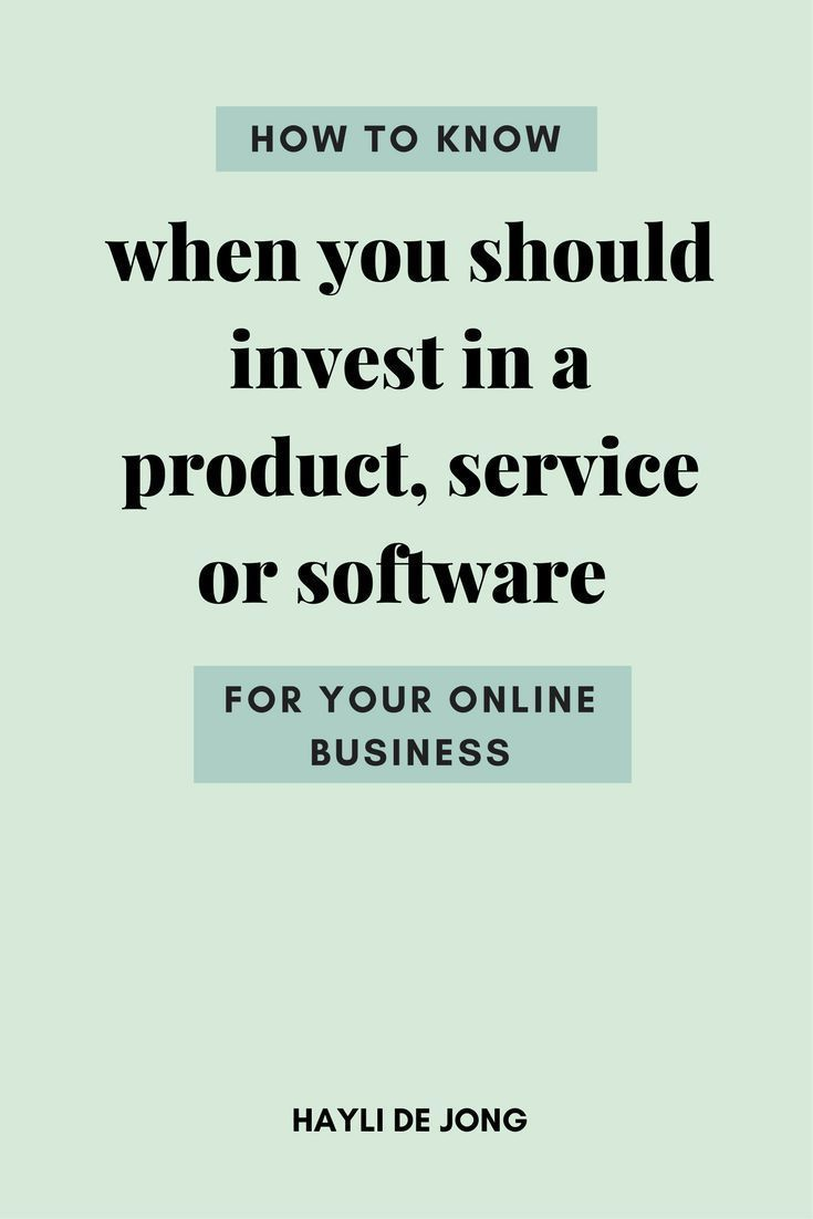 Should you invest in a tool for your business? | Should you buy a product for your business? | Should I invest in systems or software for my business?