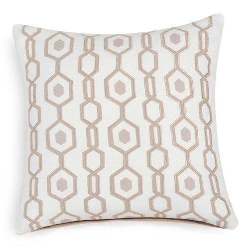 Fodera di cuscino beige in cotone stampato 40 x 40 cm BARI