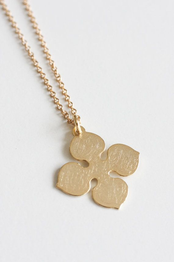 Gold filled pendant Gold filled necklace simple by moemiSugimura