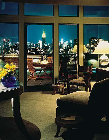 NYC. Gorgeous night view from Soho Grand Hotel