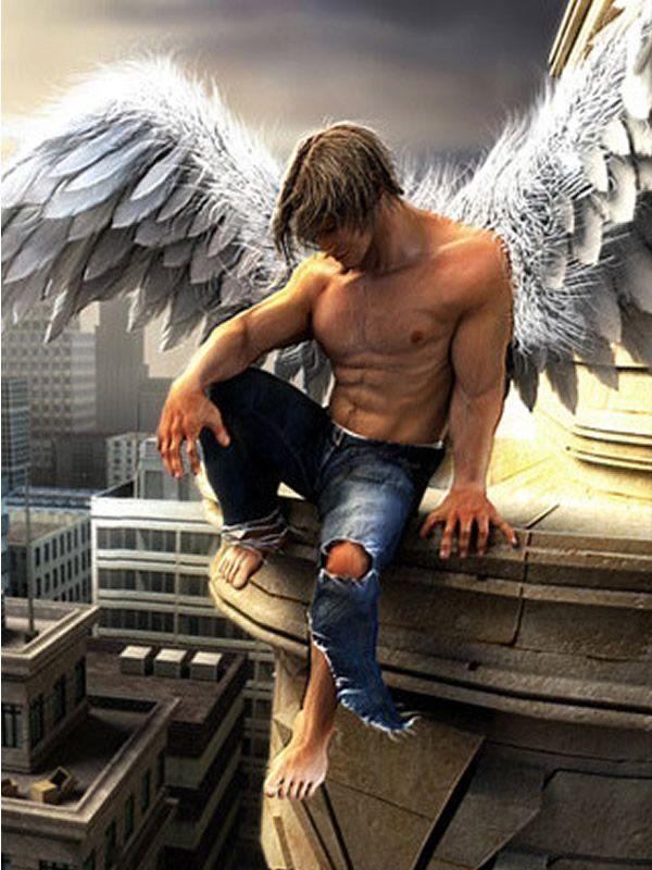 sexy fallen male angels wallpaper - photo #7