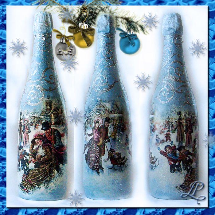 декупаж. новогоднее шампанское - Самое интересное в блогах ...