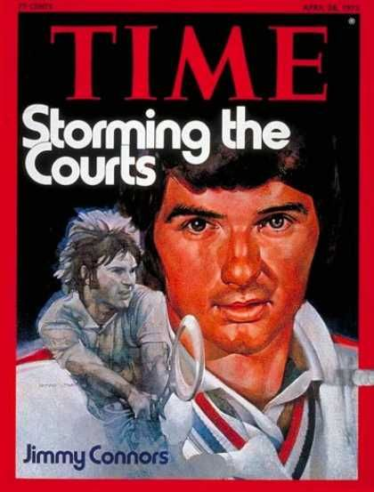 time jimmy connors apr 28 1975 tennis sports