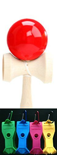 Kendama Toy (Red Ball) + Free Kendama Holder (Holster) + Extra String