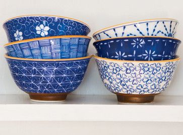 Mai Rice Bowl Set $44  Perfect for rice, perfect for ramen, perfect for soup on a rainy day — I love the shape of these bowls and the varying patterns and colors. — Jennifer Young  Houzz