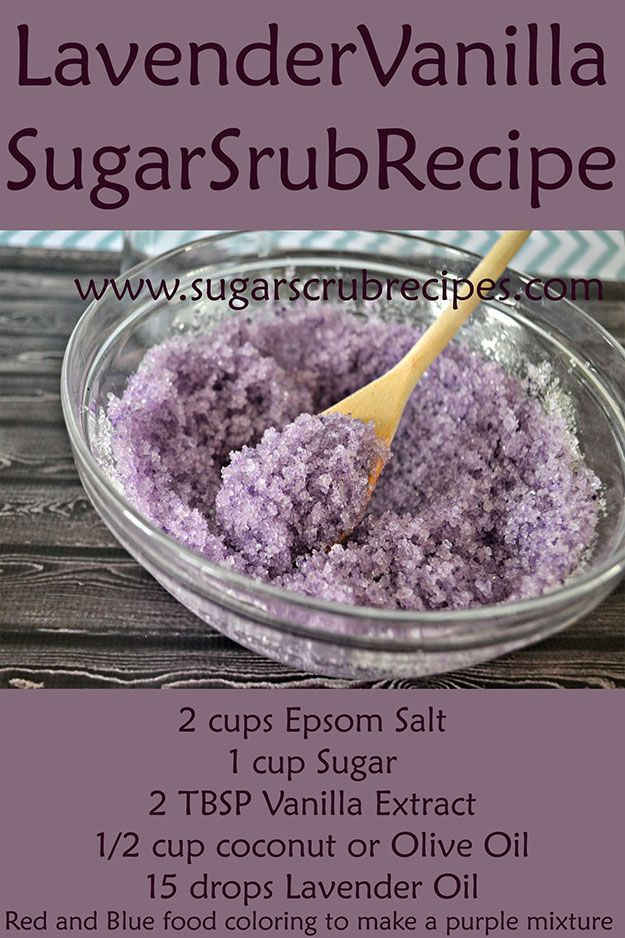 How to Make Face Scrub, Homemade Hand Scrub, Sugar Scrub Recipe, Homemade Exfoliating Body Scrub, Diy Body Scrub, Face Scrub Recipe, How to Make Sugar Scrub  Ingredients 2 cups Epsom Salt 1 cup Sugar 2 TBSP Vanilla Extract 1/2 cup coconut or Olive Oil 15  http://beautifulclearskin.net/arabica-coffee-scrub-from-majestic/