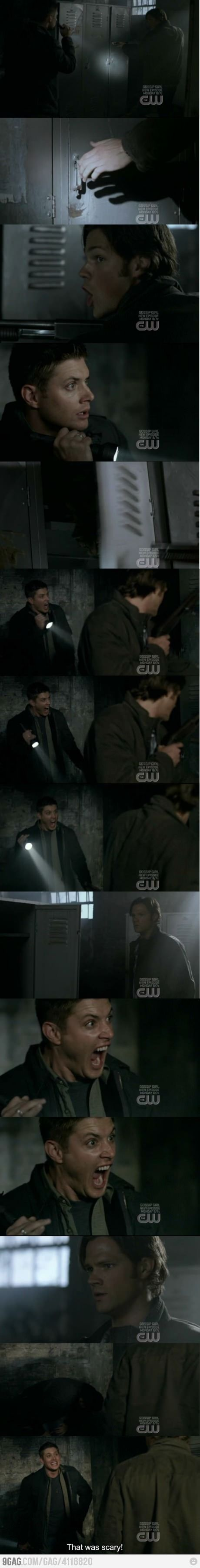 Jared Padeleki and Jensen Ackles yellow fever. This is seriously one if the funniest scenes ever. Supernatural