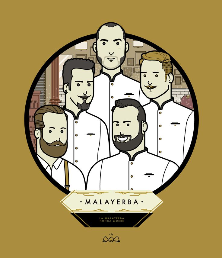 Malayerba Barber Team in Madrid #avatar #customized #customized illustration #illustration #cartoon #avatar cartoon #johann andreu #barbershop #madrid #malayerba