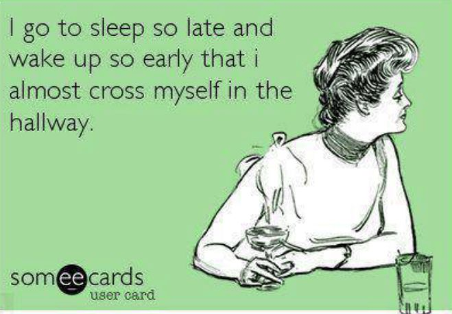 This is me on more nights than I care to admit.