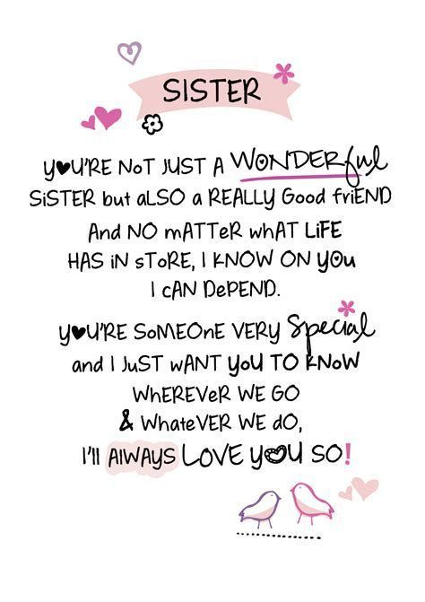 Sister You Re Not Just A Wonderful Sister But Also A Really Good