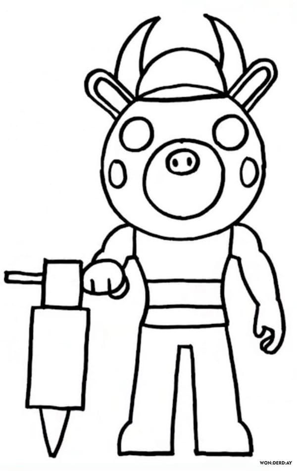 Coloring Pages Roblox Piggy Adopt Me And Others Print For Free Coloring Pages Detailed Coloring Pages Roblox