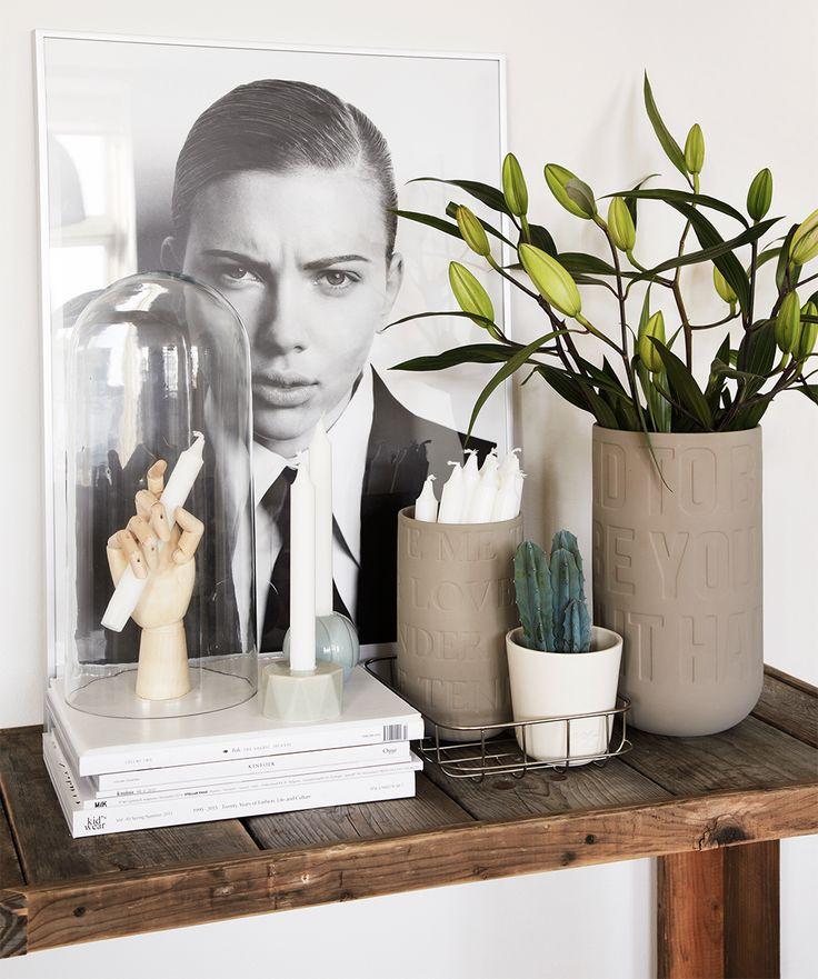 Sonoma Seven | Scarlett Johansson | One Funky Furniture bench | Kähler | HAY wood hand |  http://sonomaseven.dk | styling: me | photo: Anitta Behrendt