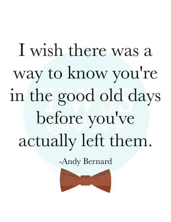 Good Old Days Andy Bernard From The Office Quote Instant Etsy In 2021 The Office Senior Quotes Office Quotes Senior Quotes