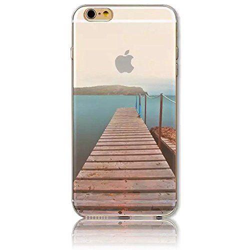 3D Créatif Coque pour iPhone 6 Plus/ iPhone 6S Plus, Sunroyal® Etui Transparent TPU Silicone Case Cover Ultra Mince Prime Flex Skin…