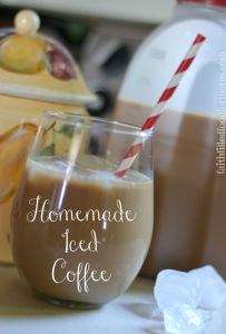 Homemade Iced Coffee #icedcoffee #coffee #recipes