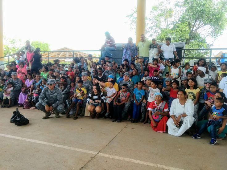 *Ésta es la primera de cuatro Jornadas de Apoyo al Desarrollo que realizará la Fuerza Aérea Colombiana (FAC) , en territorio indígena guajir...