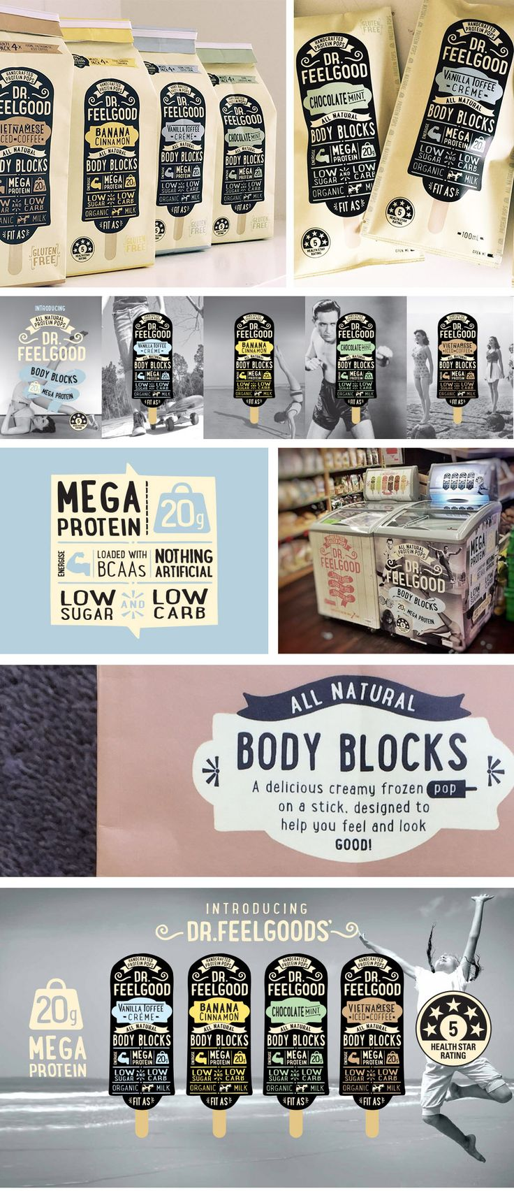 Project: Dr.Feelgood Body Blocks packaging | Designer: Brand Wagon - www.brandwagon.co.nz |