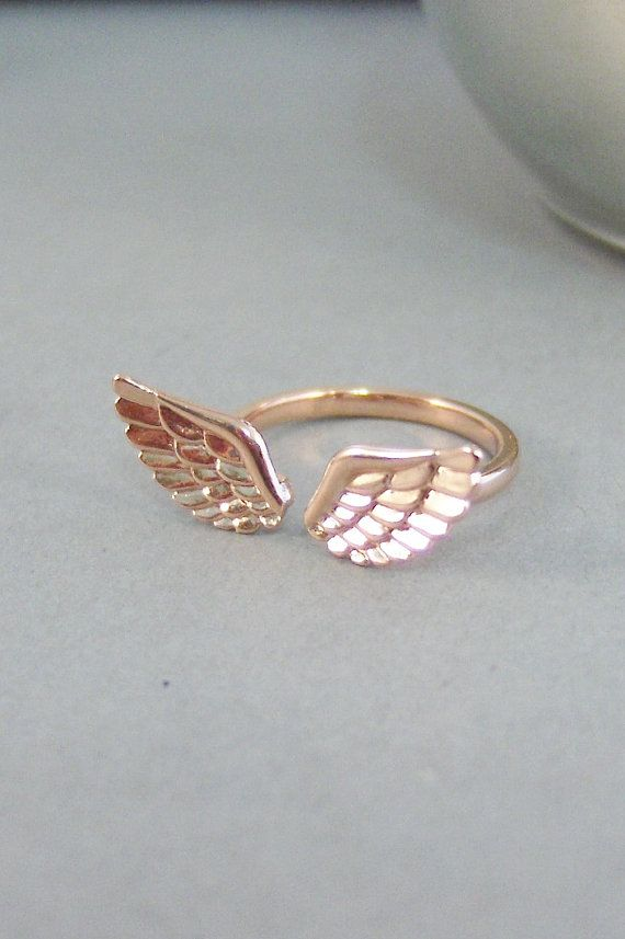 Anges d'aile anneau, bague, bague en or Rose, Gold Wing, aile d'ange, ailes d'ange, deux ailes, bijoux aile d'ange, ange gardien, Seamaidenjewelry. on Etsy, 17,32 €                                                                                                                                                                                 More