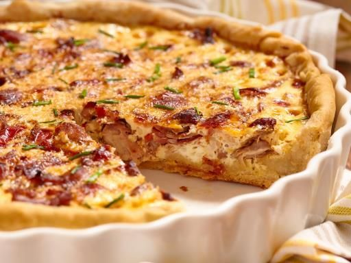 Tarte aux poireaux et aux lardons - Recette de cuisine Marmiton : une recette