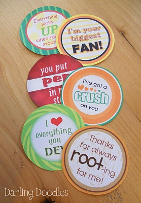 {Free} Teacher Appreciation Gift Ideas: Free tags for gifts  Soda Pop (Orange Crush, A&W Root Beer, Mountain Dew, Dr.Pepper, 7 Up, )