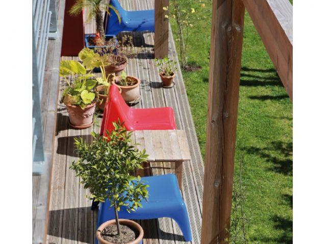 Fauteuils jardin colores vintage