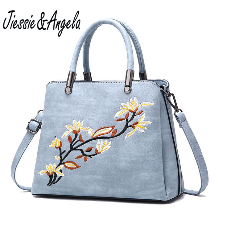 Jiessie & Angela New Embroidery Flower Tote Bags Lady's Women Leather Bag Casual Handbag High Quality Women Shoulder Purse //Price: $26.89 & FREE Shipping //     #hashtag3