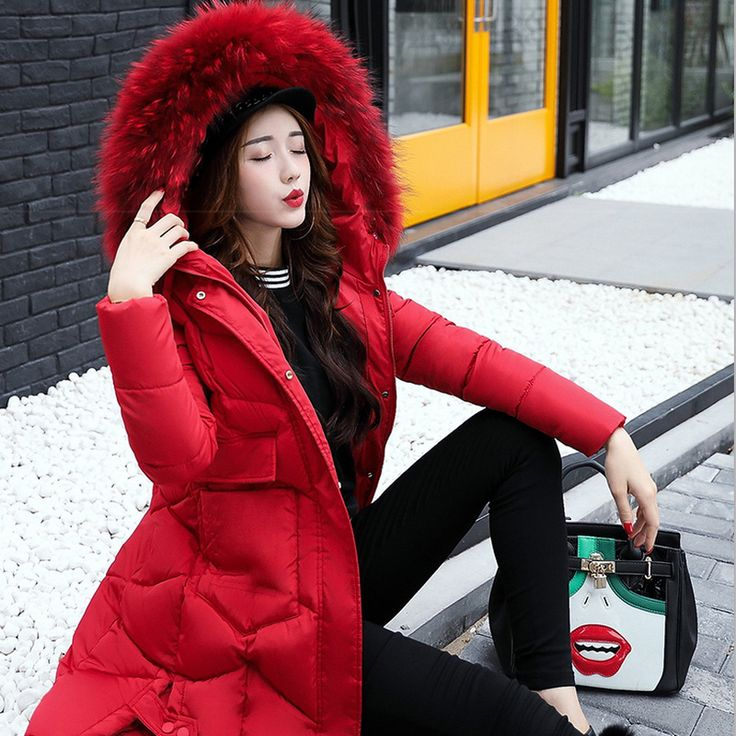 Women\u0027s cotton Jacket 2017 Winter New Models thicker New Cotton suits big  hair Collar Wind-proof Female Coat