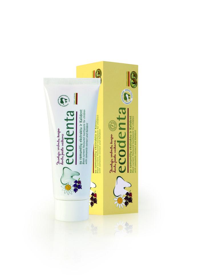 ECODENTA Rumianek EKO KIDS - Naturalna pasta do zębów dla dzieci, smak porzeczkowy