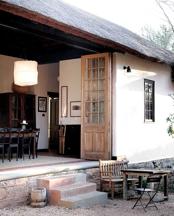 Gandhi's bungalow, now a retreat, Satyagraha House . http://www.remodelista.com/posts/hotels-lodging-satyagraha-in-south-africa/