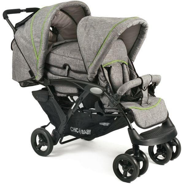 Chic 4 Baby Duo Tandem Pram + Carrycot jeans grey grey - Collection 2018