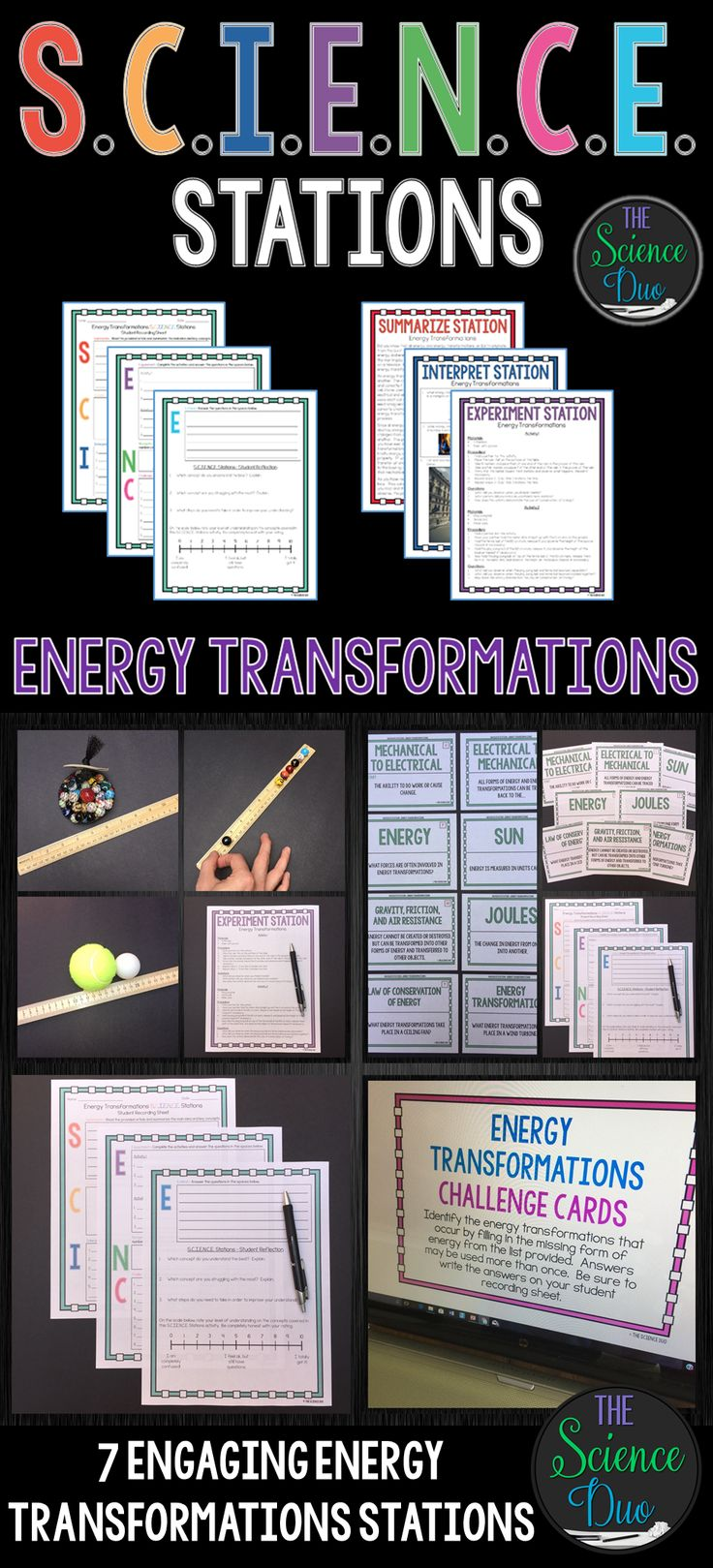 This Energy Transformations S.C.I.E.N.C.E. Station activity is designed to get your students engaged, collaborating, and moving in your daily lesson. Each station provides a different method for reinforcing important science content.