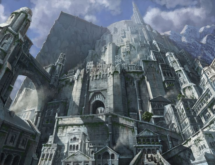 The Ancient Human City Of Minas Tirith