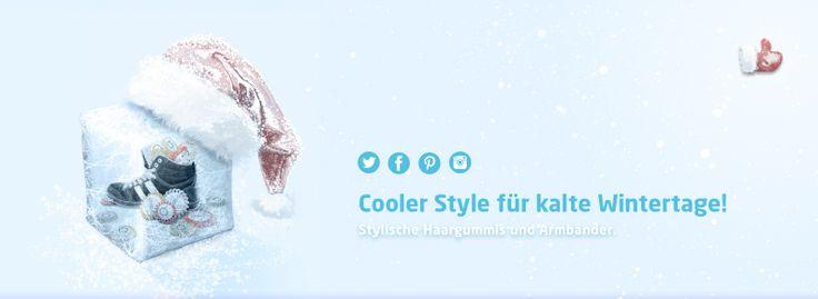 Zum #Nikolaus haben wir unseren #Papanga-Schuh samt #Haargummis in Eis gepackt.