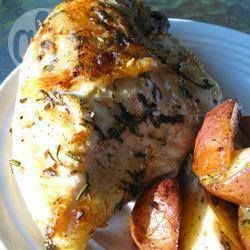 Rozemarijn kip met aardappelpartjes @ allrecipes.nl
