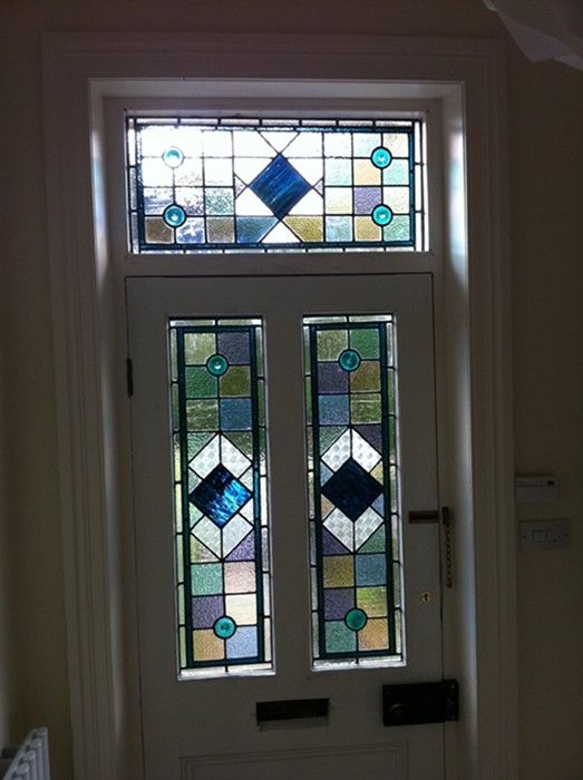 Best 25 stained glass door ideas on pinterest wood for Victorian stained glass window film
