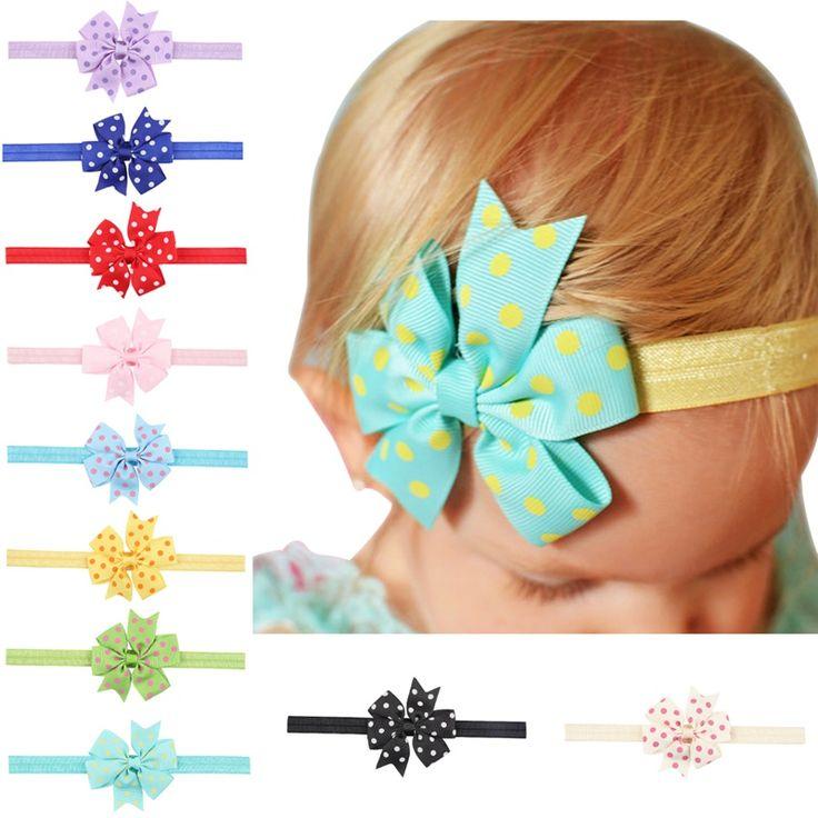 Aliexpress.com: Comprar 30 UNIDS/LOTE Niñas Diadema Dot Ribbon Bow Hair Girl diademas Niños Vendas Elásticos Del Pelo Accesorios Pelo de La Muchacha HC31 de headband kids fiable proveedores en FASACC Headwear Store