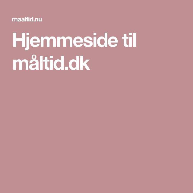 Hjemmeside til måltid.dk