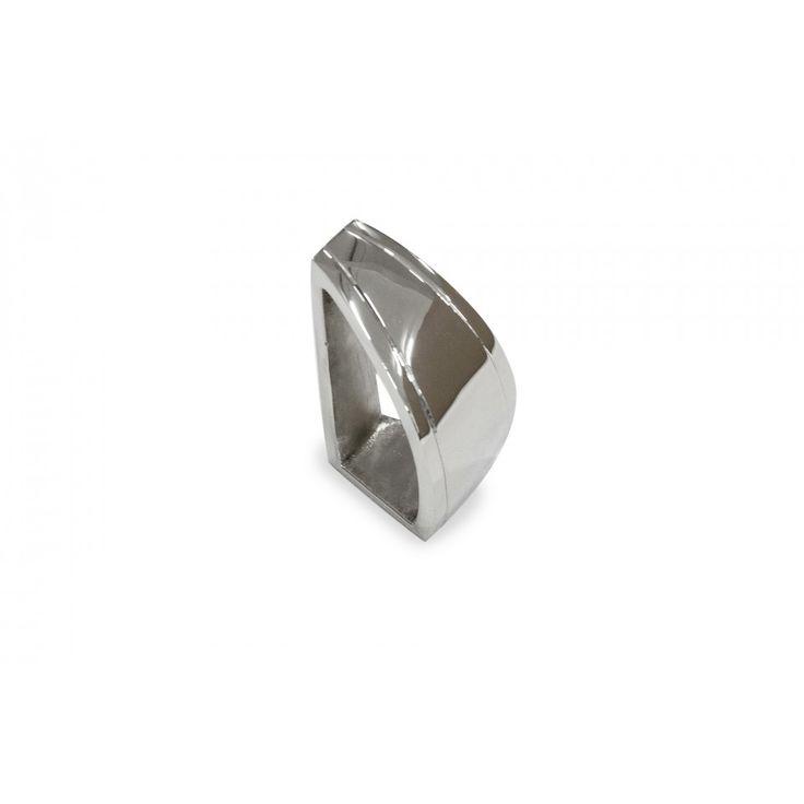 Shelton Napkin Ring. Polished metal.