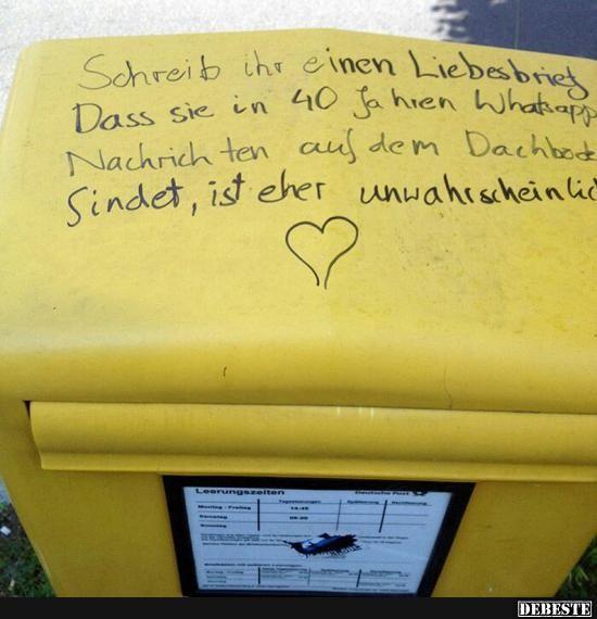 Schreib ihr einen Liebesbrief..