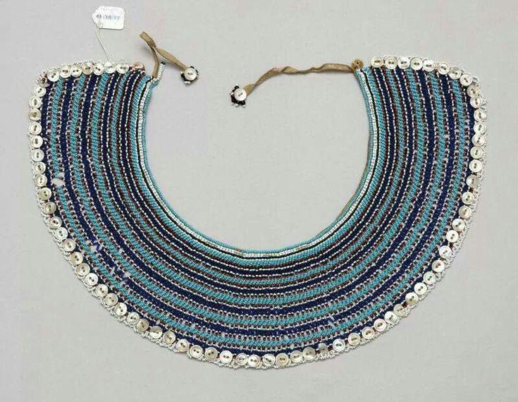 Xhosa necklace, called Ingqosha. South Africa. Xhosa, Mfengu, Nguni peoples.
