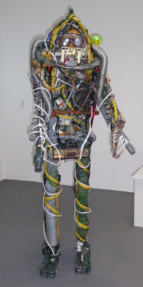 "Markus Meurer, ""Chemiker"", 2015, 185x60x40 cm"