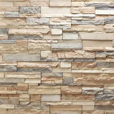 Fireplace Facade Stacked Stone Tile Fireplaces