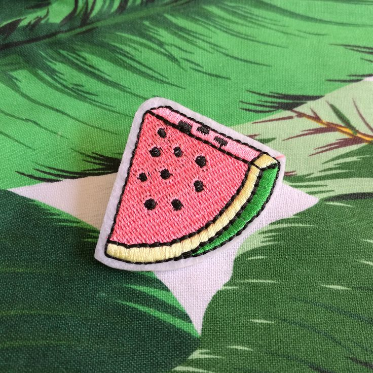Watermelon Pins | Embroidered Brooches | Embroidery Gift