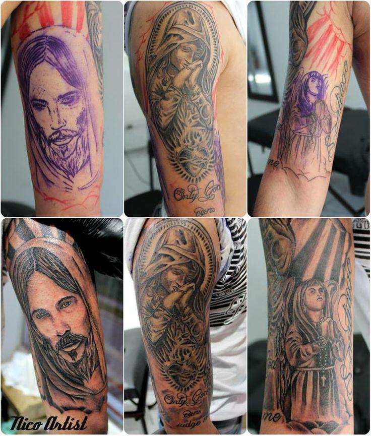 Nico artist Leben tattoo studio cristo virgen angel tattoo #angeltattoo #Cristotattoo #Viergentattoo #Nicoartist