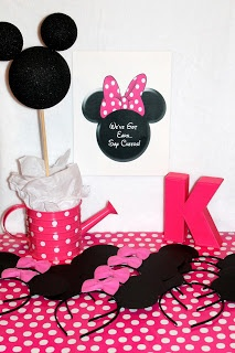 Minnie Mouse Birthday Sign - We've Got Ears - 8.5 x 11