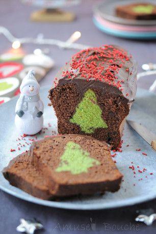Un cake s'amusebouche mignon à croquer. (http://www.amusesbouche.fr/article-cake-surprise-de-noel-121607709.html)