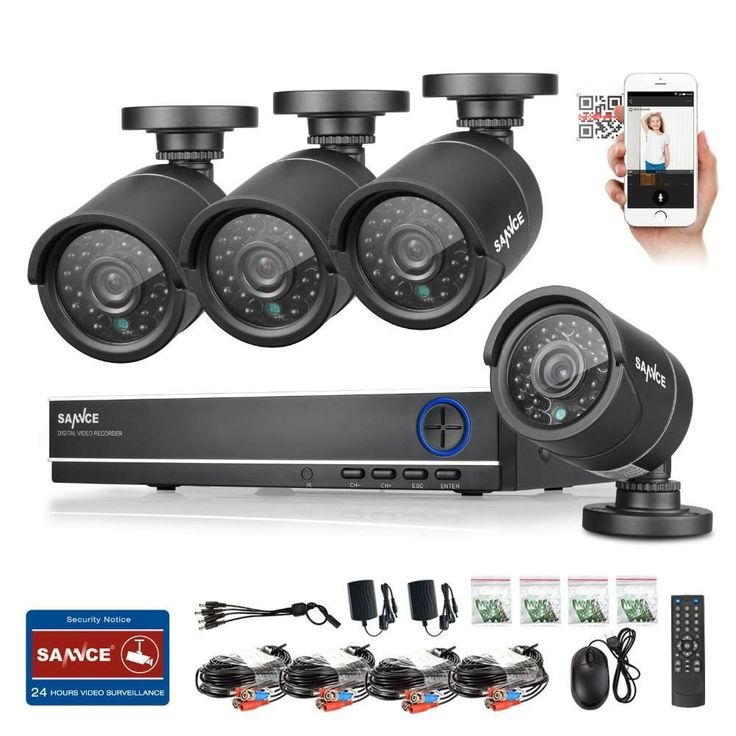 4CH CCTV System 1080P Video Surveillance Home Security Camera System