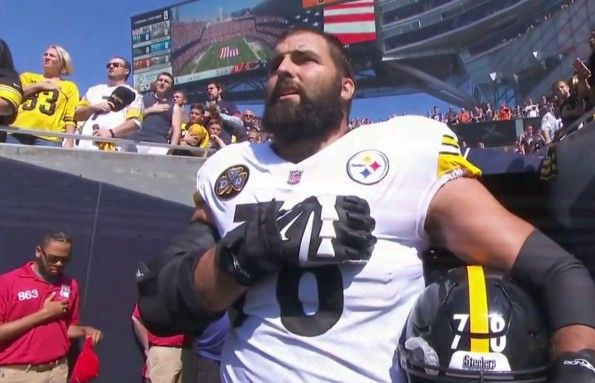 PITTSBURGH, PA — Patriots across America flocked to sports stores on Monday, clamoring for merchandise bearing the name of Pittsburgh Steelers offensive tackle Alejandro Villanueva. The rush …